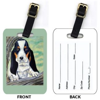 Basset Hound Luggage Tags IV (Set of 2)