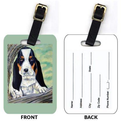 Basset Hound Luggage Tags IV (Set of 2)