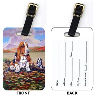 Basset Hound Luggage Tags (Set of 2)