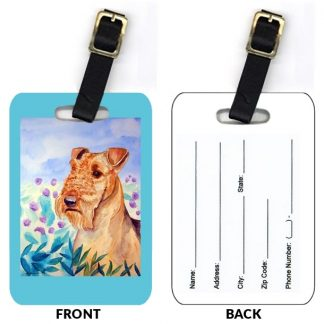 Airedale Terrier Luggage Tags (Set of 2)