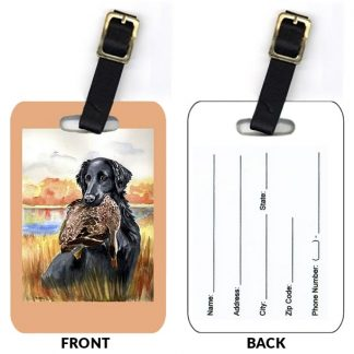 Flat Coated Retriever Luggage Tags (Set of 2)