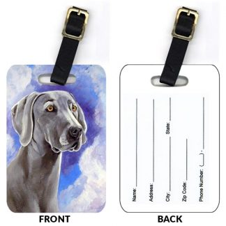 Weimaraner Luggage Tags (Set of 2)