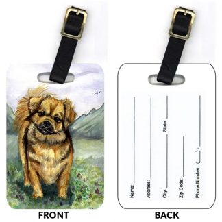 Tibetan Spaniel Luggage Tags (Set of 2)