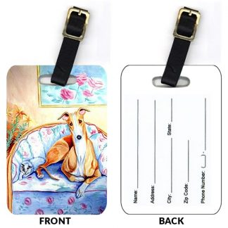 Whippet Luggage Tags (Set of 2)