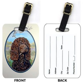 Irish Water Spaniel Luggage Tags (Set of 2)