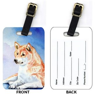 Shiba Inu Luggage Tags (Set of 2)