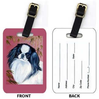 Japanese Chin Luggage Tags (Set of 2)