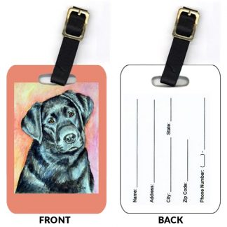 Black Lab Luggage Tags (Set of 2)