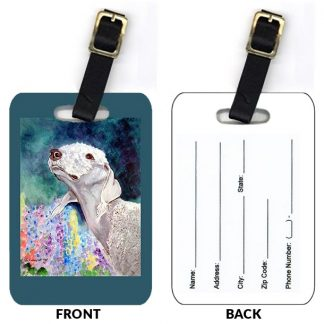 Bedlington Terrier Luggage Tags (Set of 2)