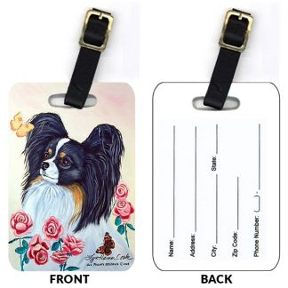 Papillon Luggage Tags (Set of 2)