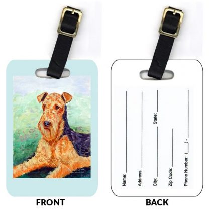 Airedale Terrier Luggage Tags III (Set of 2)