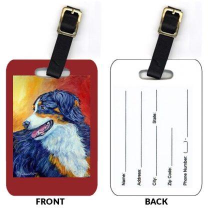 Black Tri Australian Shepherd Luggage Tags (Set of 2)