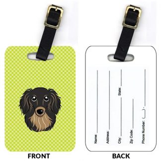 Longhaired Dachshund Luggage Tags (Set of 2)