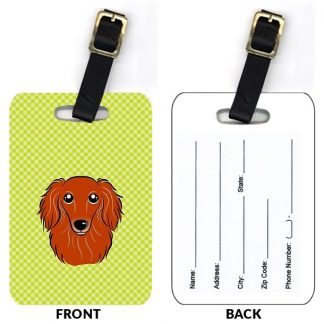 Longhaired Dachshund Luggage Tags II (Set of 2)