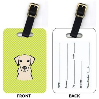 Yellow Lab Luggage Tags Set of 2)