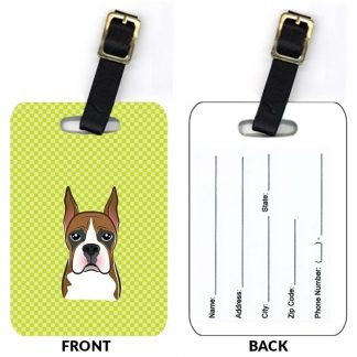 Boxer Luggage Tags (Set of 2)