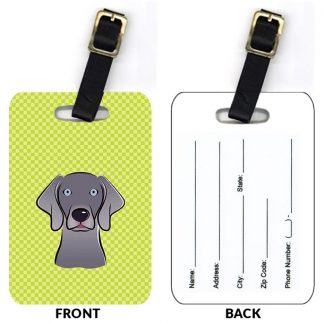 Weimaraner Luggage Tags II (Set of 2)
