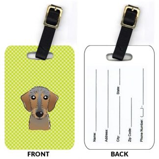 Wirehaired Dachshund Luggage Tags (Set of 2)