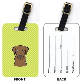 Chocolate Lab Luggage Tags (Set of 2)