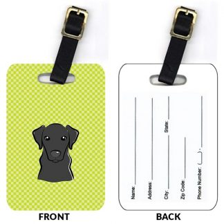 Black Lab Luggage Tags IV (Set of 2)