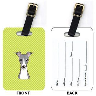 Italian Greyhound Luggage Tags (Set of 2)