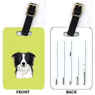 Border Collie Luggage Tags (Set of 2)