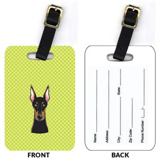 Doberman Pinscher Luggage Tags (Set of 2)