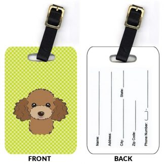 Chocolate Poodle Luggage Tags II (Set of 2)