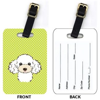 White Poodle Luggage Tags (Set of 2)
