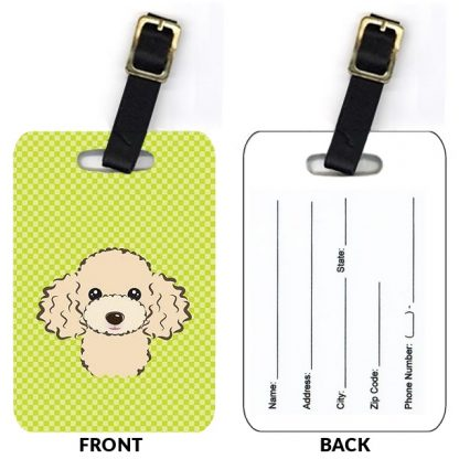 Apricot Poodle Luggage Tags (Set of 2)