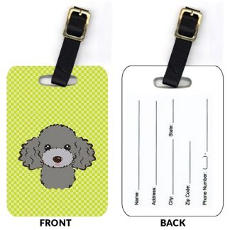 Silver Poodle Luggage Tags (Set of 2)