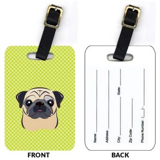 Pug Luggage Tags III (Set of 2)