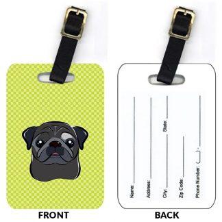 Pug Luggage Tags IV (Set of 2)