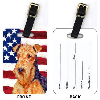 Airedale Terrier Luggage Tags II (Set of 2)