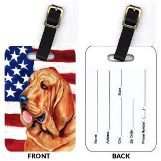 Bloodhound Luggage Tags II (Set of 2)