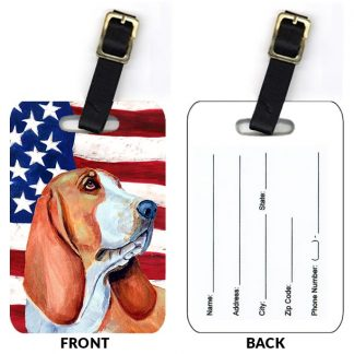 Basset Hound Luggage Tags III (Set of 2)