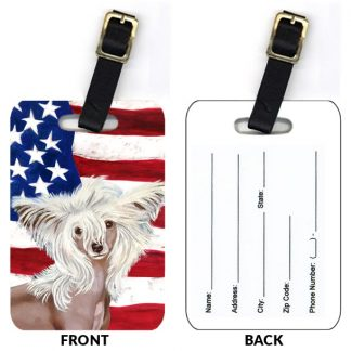 Chinese Crested Luggage Tags (Set of 2)