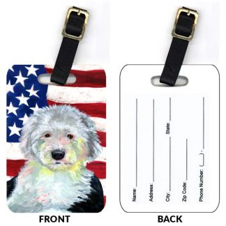 Old English Sheepdog Luggage Tags (Set of 2)
