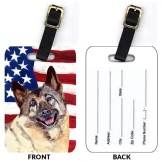 Norwegian Elkhound Luggage Tags (Set of 2)