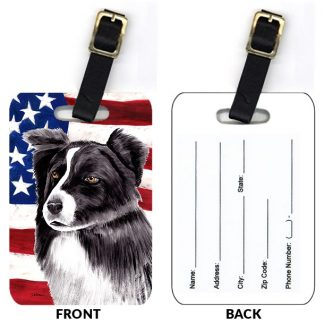 Border Collie Luggage Tags IV (Set of 2)