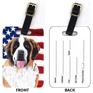 Saint Bernard Luggage Tags III (Set of 2)