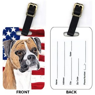 Boxer Luggage Tags - Uncropped (Set of 2)