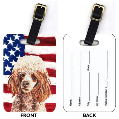 Apricot Poodle Luggage Tags II (Set of 2)