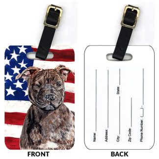 Staffordshire Bull Terrier Luggage Tags (Set of 2)