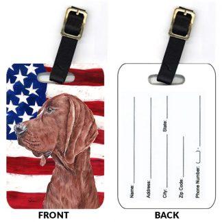 Redbone Coonhound Luggage Tags II (Set of 2)
