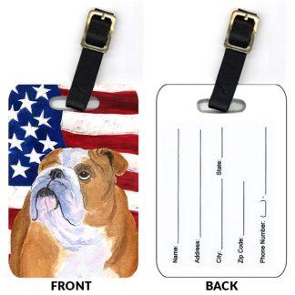Bulldog Luggage Tags III (Set of 2)