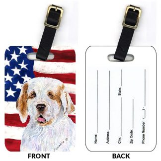 Clumber Spaniel Luggage Tags (Set of 2)