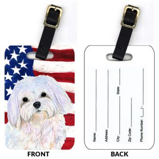 Maltese Luggage Tags IV (Set of 2)