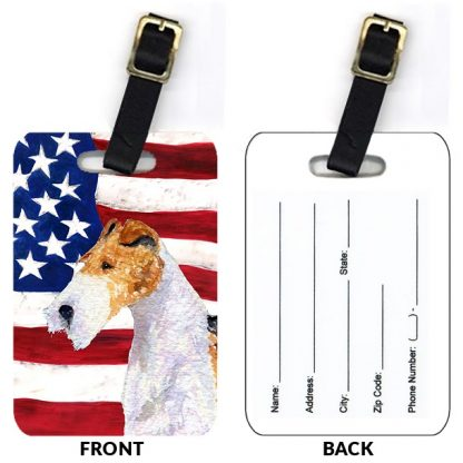 Wire Fox Terrier Luggage Tags III (Set of 2)