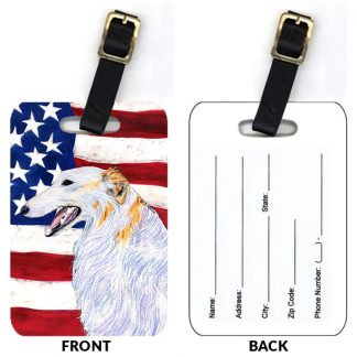 Borzoi Luggage Tags III (Set of 2)